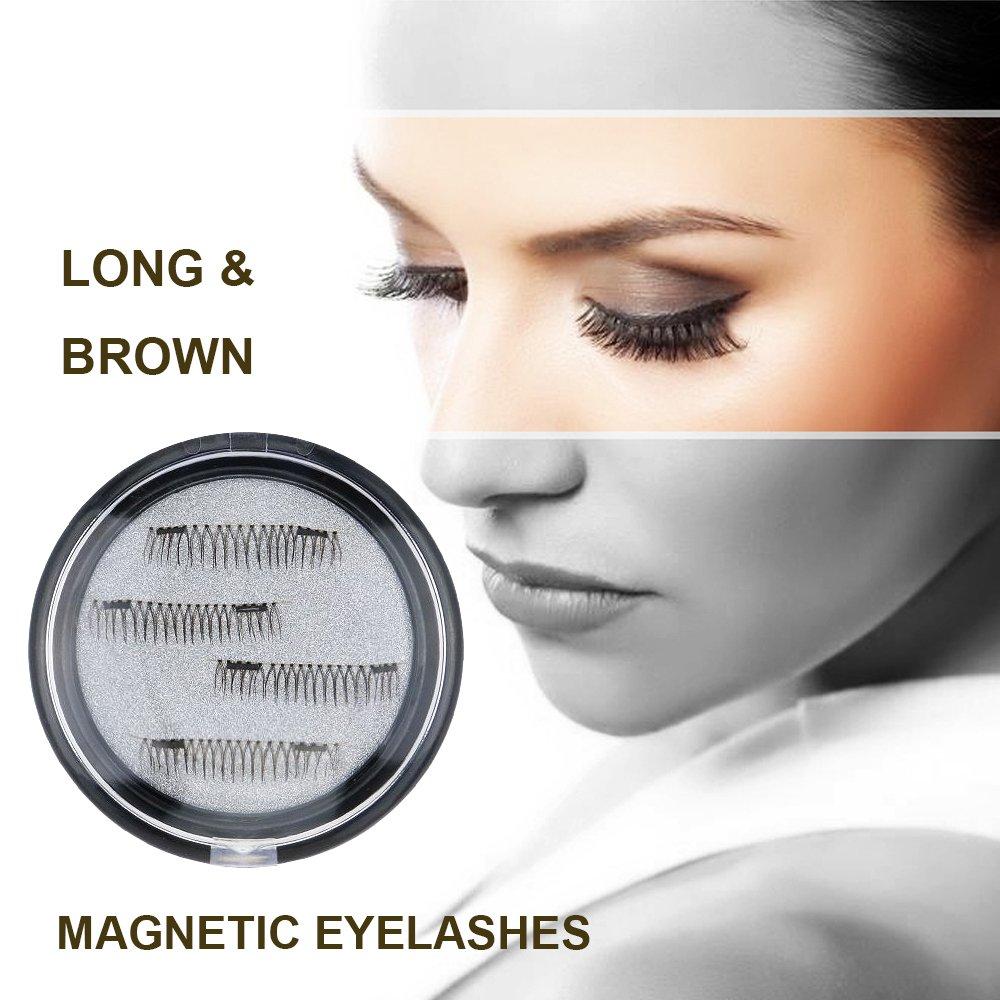 Amazon Longer False Magnetic Eyelashes Cover The Entire