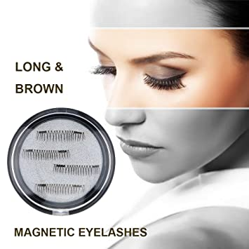 90a99a67a52 Longer False Magnetic Eyelashes -Cover the entire eyelids ,Cruelty Free,  Dual Magnets,