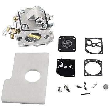 Salvador carburador carburador RB-77 reconstruir Kit + filtro de aire para Stihl 017 018 MS170 MS180 motosierra con ZAMA Carb: Amazon.es: Jardín