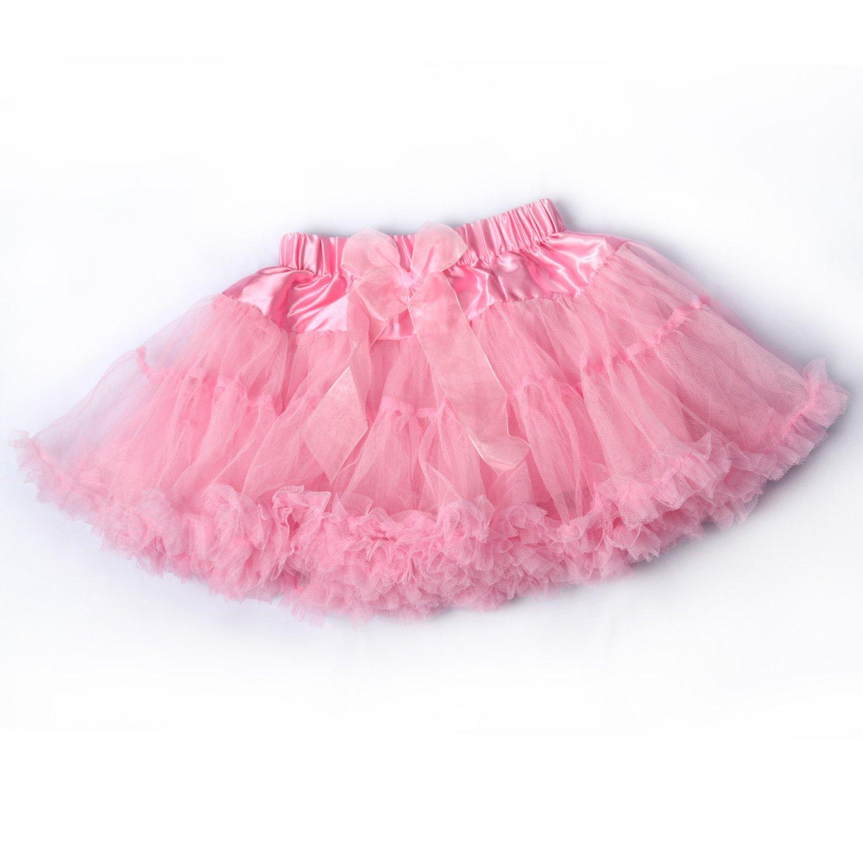 LCLHB Girls Tulle Fluffy Tutu Dance Petti Skirt for Infant Baby Toddler Kids Children