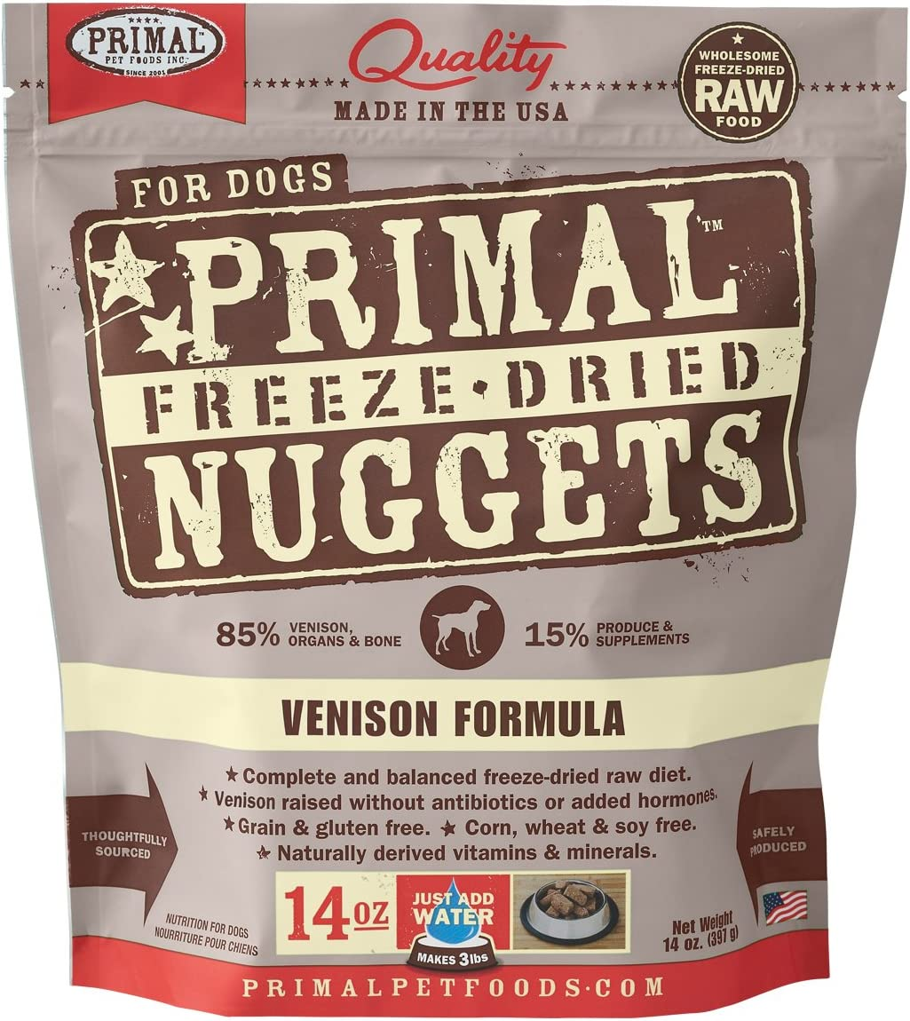 Primal Freeze Dried Dog Food Venison Formula