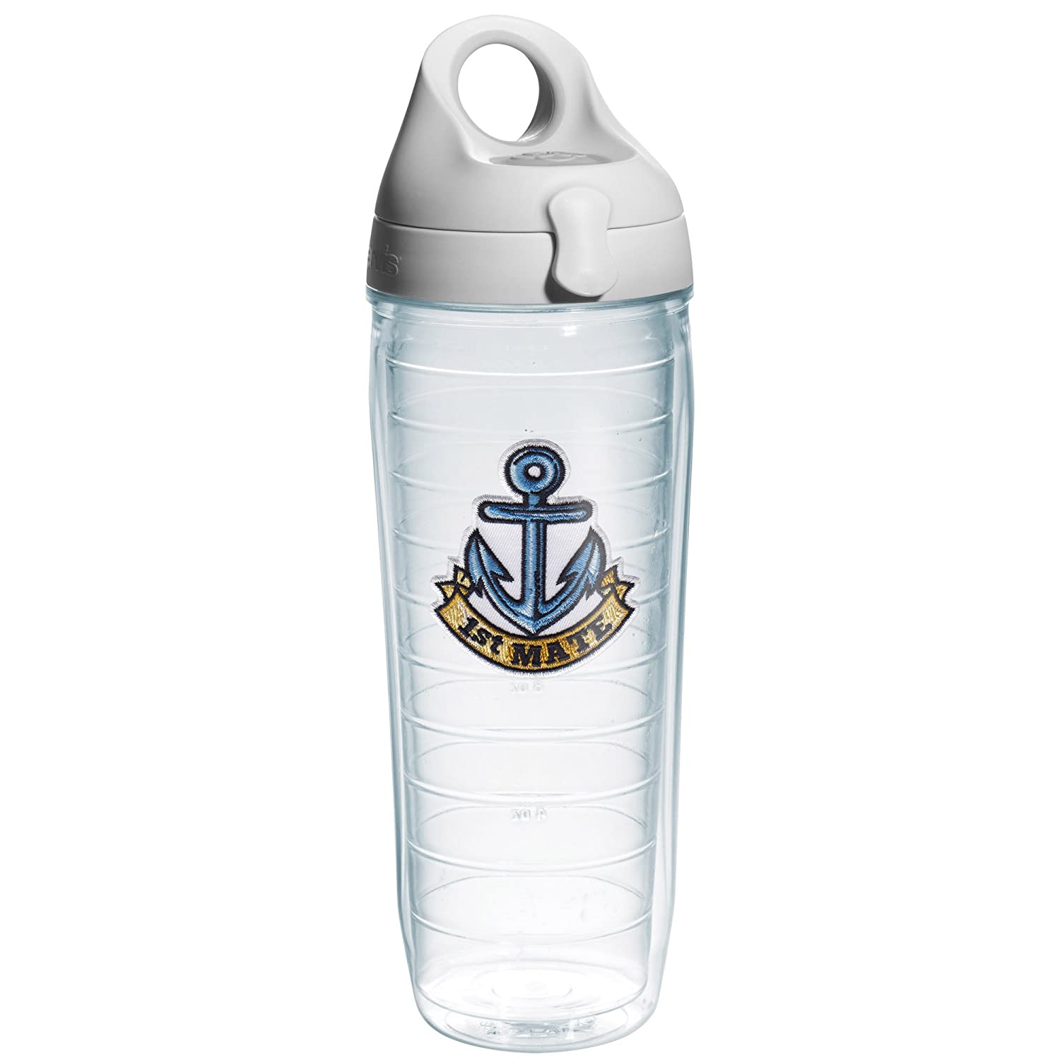 On The Water 1167469 24-Ounce Tervis 1st Mate Anchor Emblem Bottle with Grey Lid