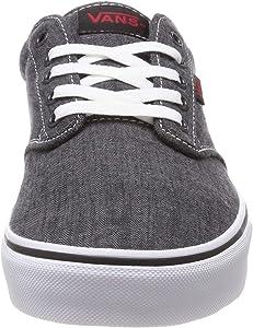 Vans Men's Atwood Canvas Low Top Skate Shoes Sneakers, BlackWhite Mens 13 M US