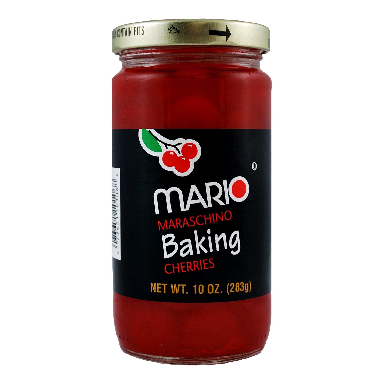 Mario Camacho Foods Plain Maraschino Baking Cherries, 10 Ounce (Pack of 12)