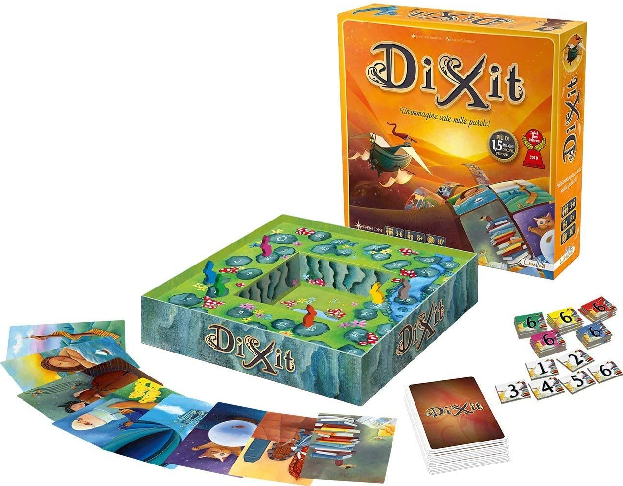 Gioco da tavolo Dixit contenuto della scatola