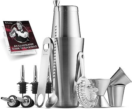 Amazon.com: Juego de herramientas de coctelera de acero ...