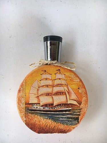 pequeña botella decorativa con motivos marinos: Amazon.es ...