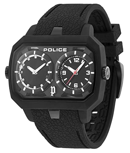 Police R1451109025 - Reloj con correa de acero para hombre, color negro/gris: Police: Amazon.es: Relojes