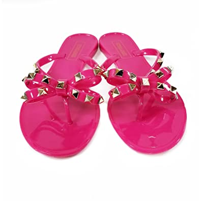 Amazon.com: Victoria Adames Valencia Fucsia Jelly - Zapatos ...
