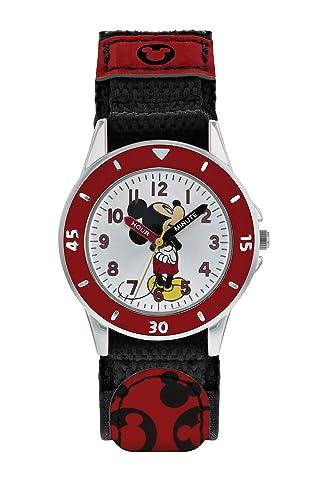 Mickey Mouse Reloj Analógico para Niños de Cuarzo con Correa en Tela MK5151: Amazon.es: Relojes