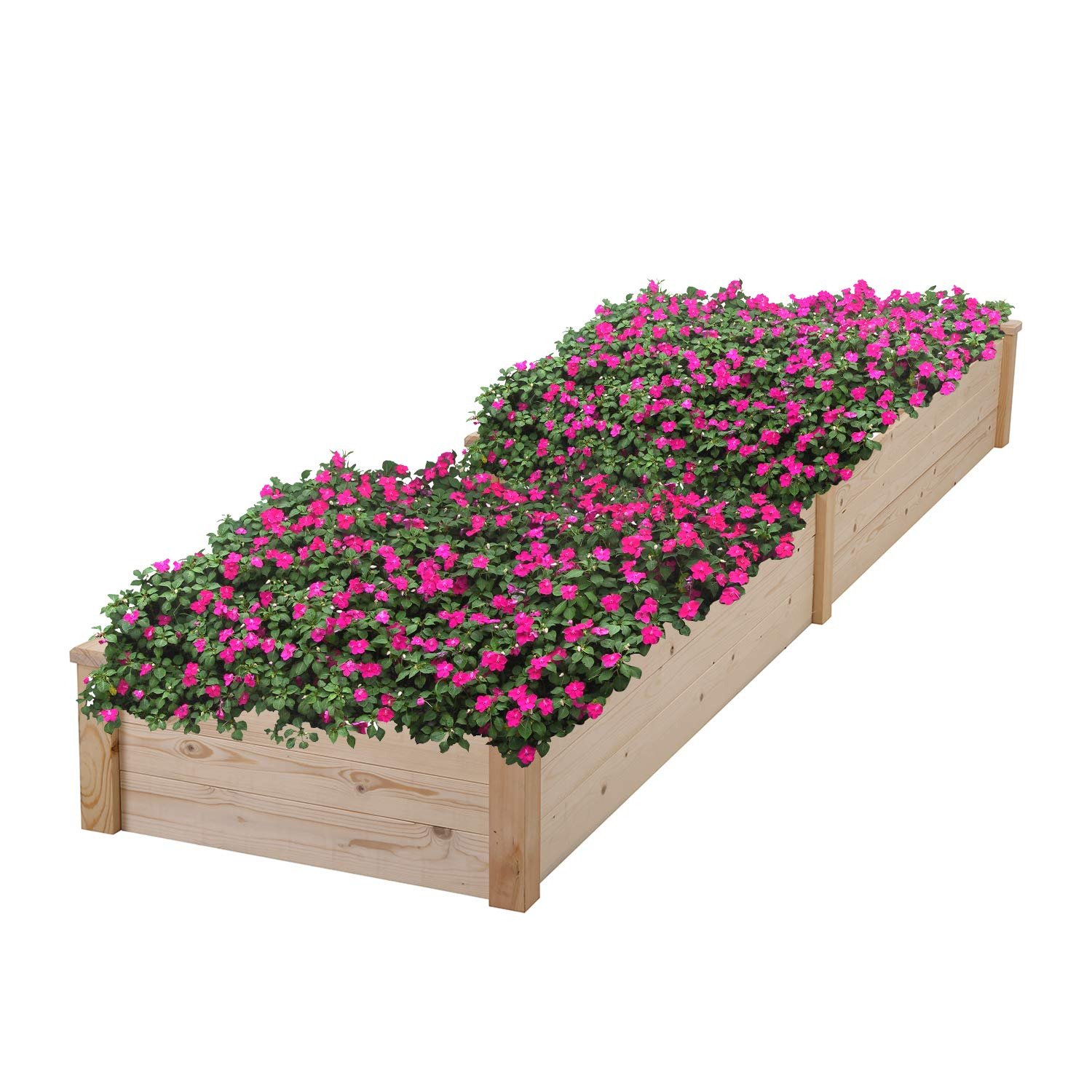 HYD-Parts Garden Bed Kit Planter Box for Vegetables Fruits Herb Grow, Planter Raised Beds (023)
