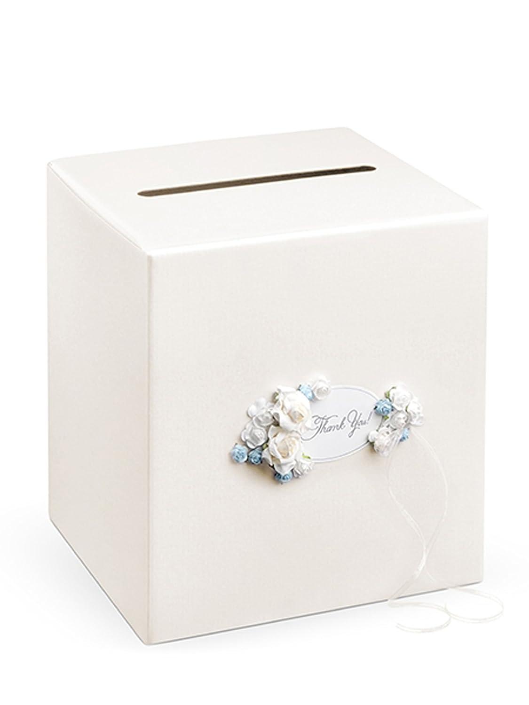 Decorativo boda caja de tarjeta caja de regalo para dinero con ...