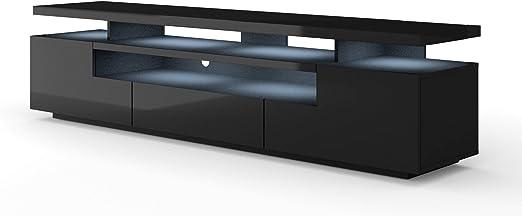 Mueble bajo para TV de EVA 195 cm, cuerpo mate y hoja brillante ...