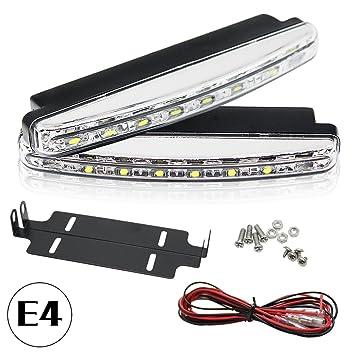 PLC020 - Luces diurnas LED para coche, 5050SMD, R87, E4, autorizadas por la legislación alemana de circulación (StvzO): Amazon.es: Coche y moto