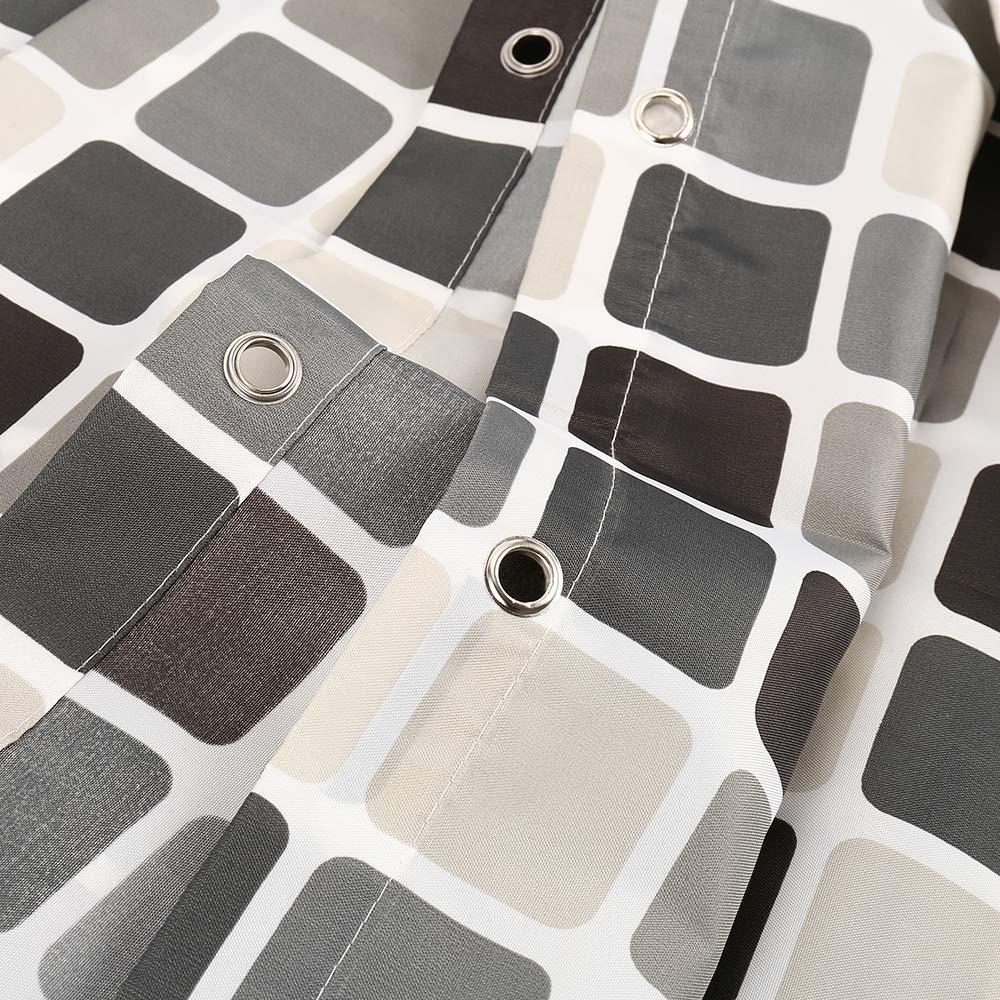 Dightyoho Tenda da Doccia antimuffa in Tessuto 200/X 220/ Tende da Bagno Impermeabile di Mosaico