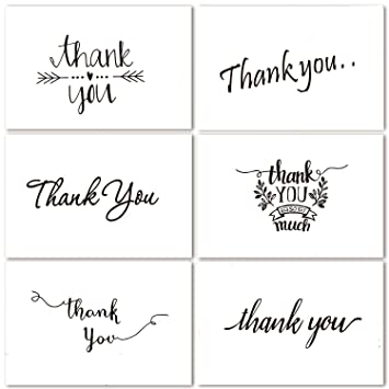 amazon com thank you note cards postcards with funny decor stickers