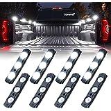 Xprite White Truck Pickup Bed Light Kit, 24 Led Cargo Rock Lighting Kits w/Switch for Van Off-Road Under Car, Side Marker, Fo