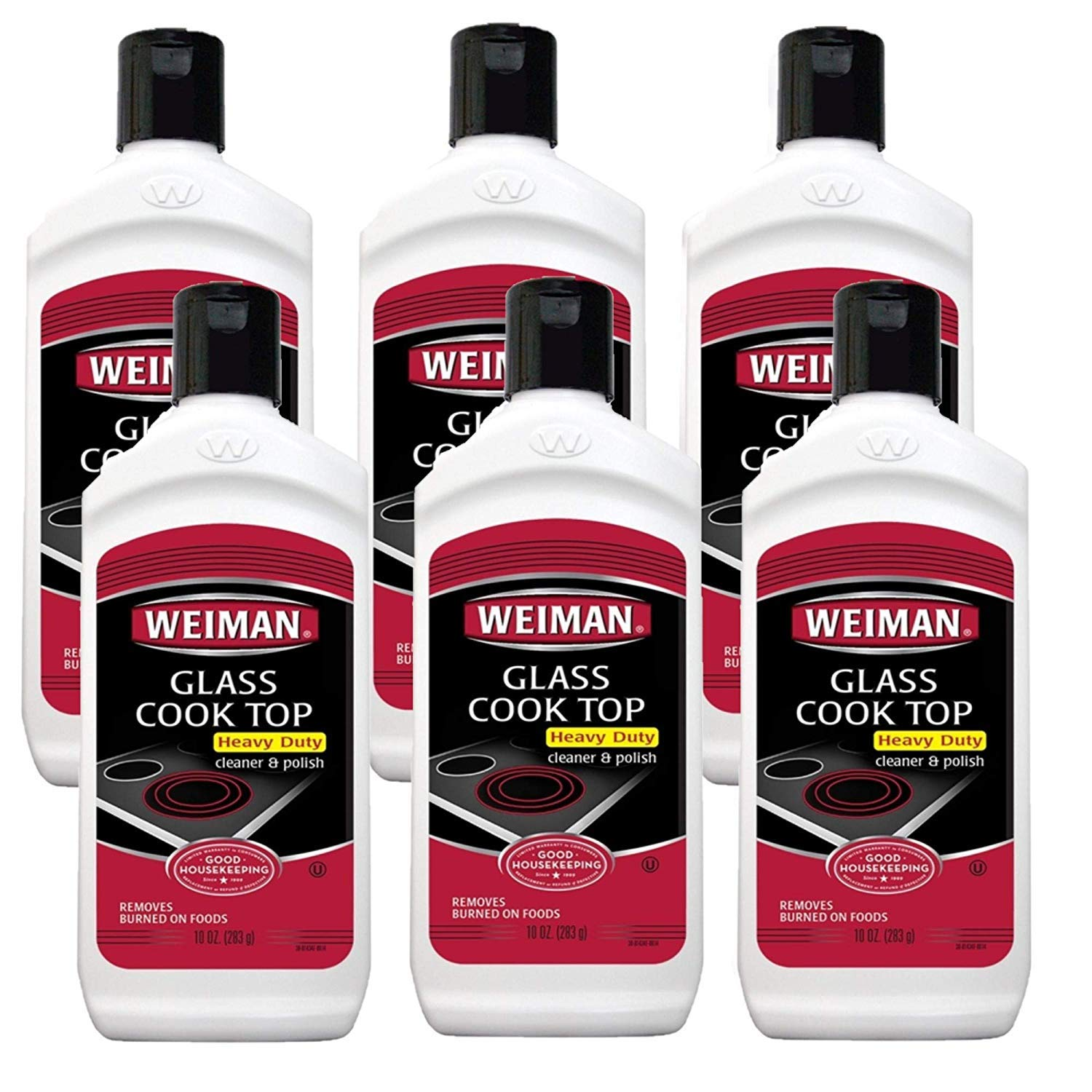 Weiman Cooktop Cleaner and Polish 10 Ounce (Pack of 6) by Weiman