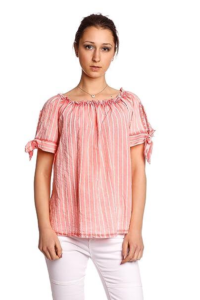 Abbino 80263 Blusa En Topless con Sheife para Mujer 8 Colores - Entretiempo Primavera Verano Sensibilidad