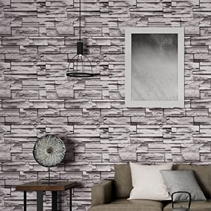 XYTMY 3D Brick Wallpaper Roll Modern Textured Removable Peel And Stick With 3d Stone
