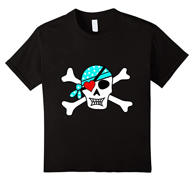 Amazon Com Kids Boy S Valentines Day T Shirt Pirate Skull Heart