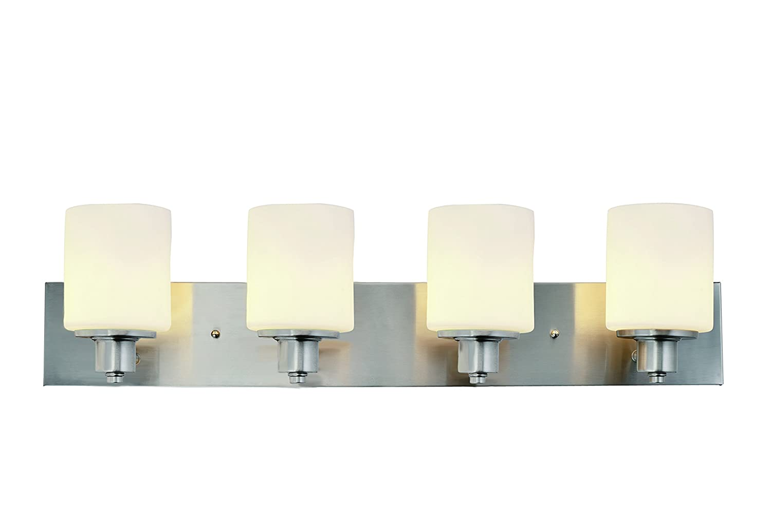 Design House 578849 Dane 4 Vanity Light, Satin Nickel