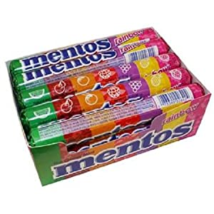 Product Of Mentos, Roll Chewy Rainbow, Count 15 (1.32 oz) - Mints / Grab Varieties & Flavors