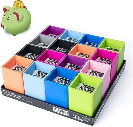 Pack Ahorro 16 Cubiletes Porta Lapices de Silicona Ultra Soft Colorline, 9 Colores Surtidos: Amazon.es: Oficina y papelería