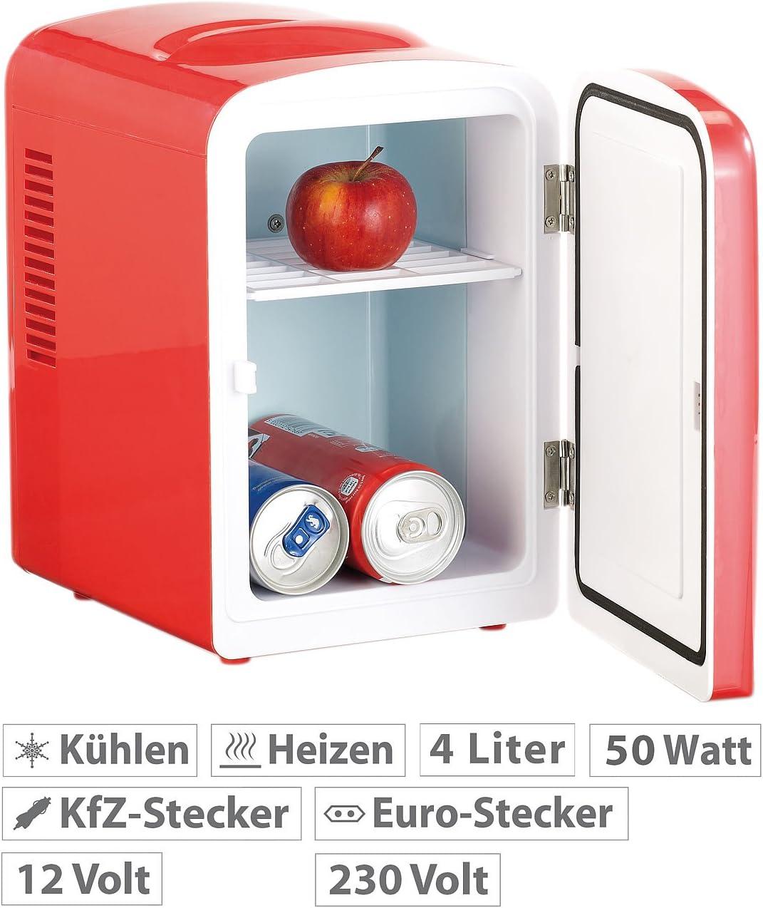 Rosenstein Söhne Mini Dosen Kühlschrank Mini Kühlschrank Mit Warmhalte Funktion 4 Liter Für 12 230 Volt Rot Kleiner Kühlschrank Küche Haushalt