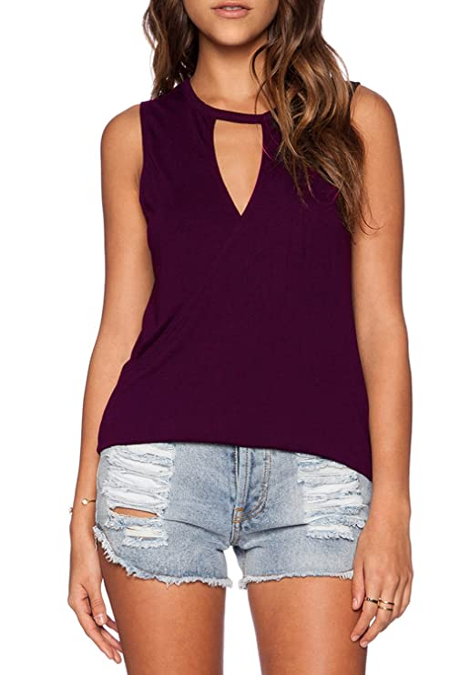 4f6bbf90d599 Duppoly Open Back Sleeveless Shirts for Women V Neck Yoga Clothes  Essentials Workout Sport Stretch Tees