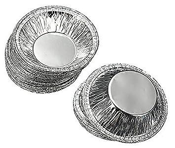 250 piezas desechables Papel de aluminio vasos para horno Bake magdalenas Cupcake lata molde redondo ovulo sacatestigos Tins molde, above diameter:5.5cm: ...