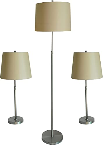 Urbanest Cooper 3-Piece Adjustable Floor Table Lamp