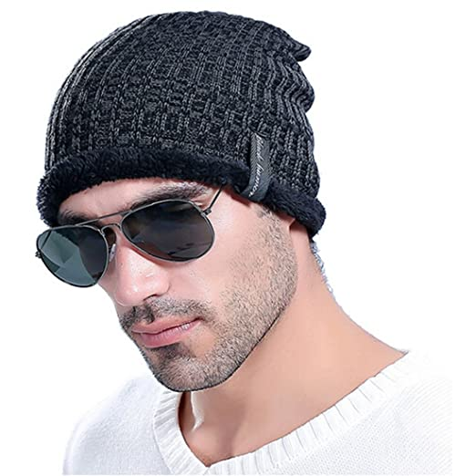 f48cc48cd1b Little Chair Men Women Knitted Thick Cashmere Winter Earflap Beanie Hat  Crochet Skull Ski Cap (