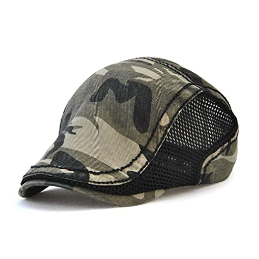 97f6660b0d3 Image Unavailable. Image not available for. Color  Spring Summer Camouflage  Beret Hats ...