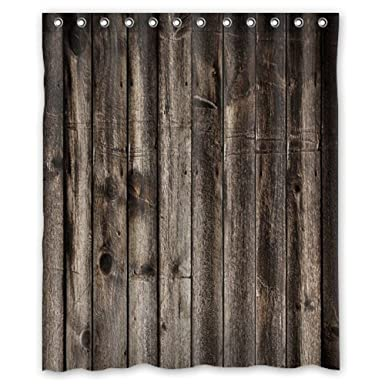 Amazon Shower Curtain WelcomeWaterproof Decorative Rustic Old