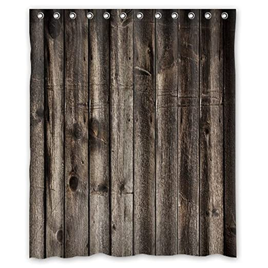 Shower Curtain WelcomeWaterproof Decorative Rustic Old Barn Wood Art 60quot