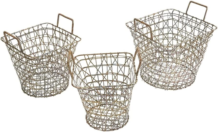 Gold Madison Park Havana Basket Set of 3