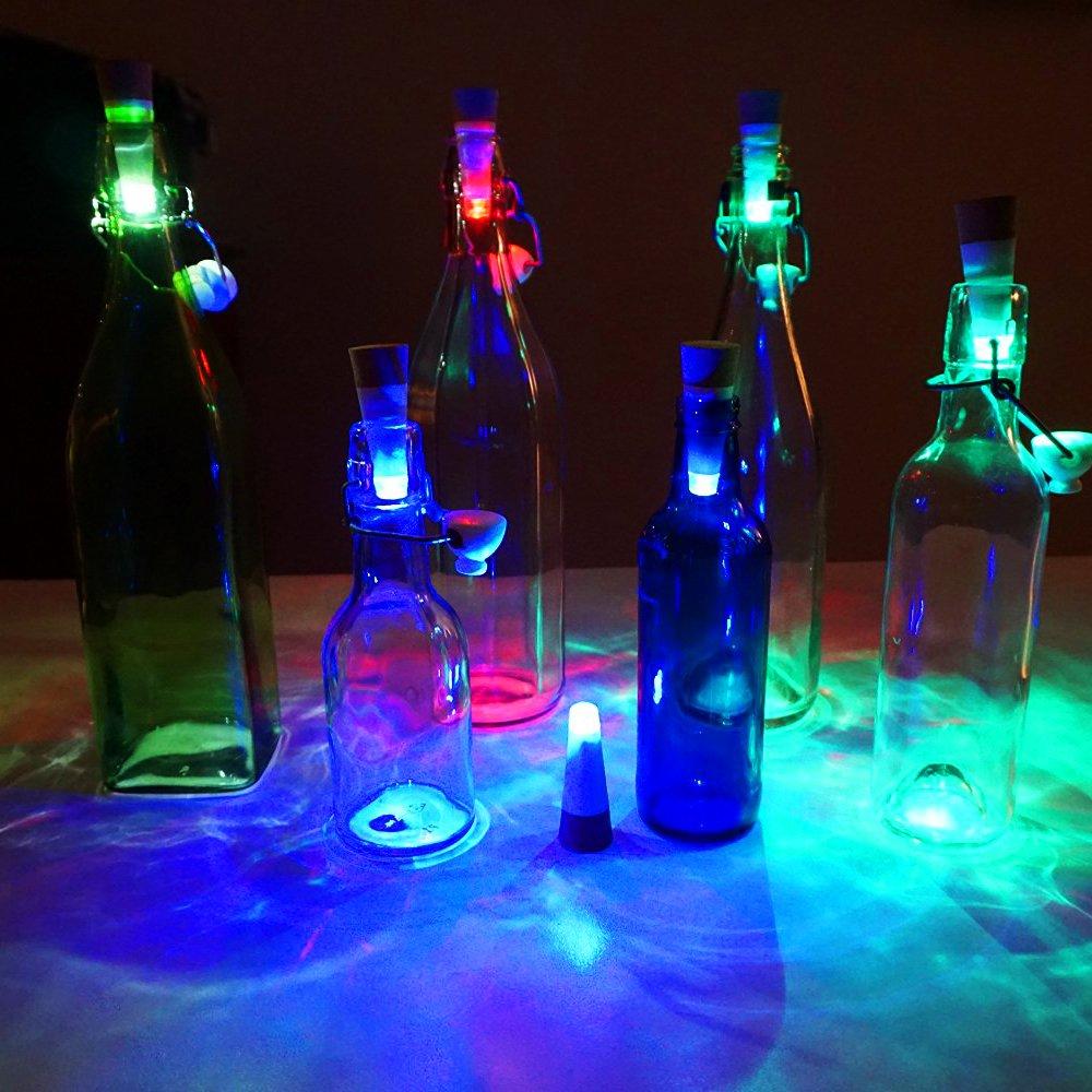 LOBKIN Weinflasche Lichter Cork geformte, Brightest Weinkorken USB-Licht auf dem Markt - 12 Lumen für Party Night Club Weihnachten Schlafzimmer Akku/Stromversorgung über USB (3pcs)