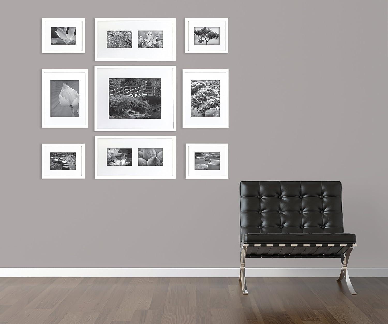 Galería Perfecto Marco de Fotos Pared, Blanco, 16x20, 5x7, 8x10, 1 ...