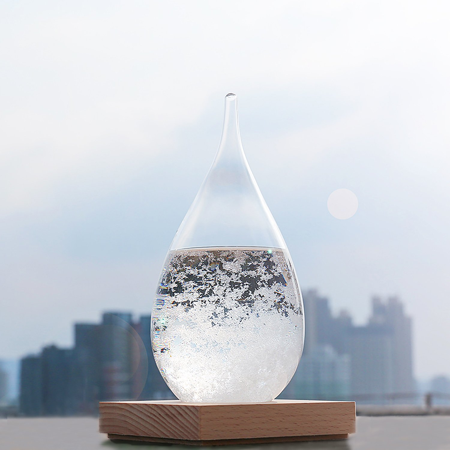 Amazon.com: WELLDONE Storm Glass Water Drops Weather Forecast Bottle ...