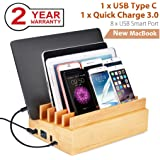 merit 3 in 1 multischnittstelle usb bambus ladestation. Black Bedroom Furniture Sets. Home Design Ideas