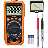 URCERI UM02 Digital Multimeter Auto-ranging Trms 6000 Counts Tester Amp Ohm Volt Multi Tester Meter Temperature Frequency Resistance Capacitance Diode Duty Cycle Measuring , Backlight LCD Display