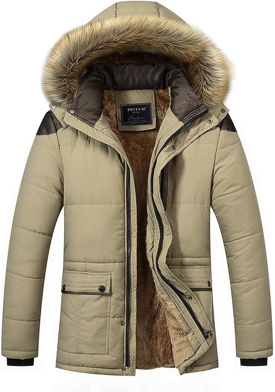 M-Collar Hooded Men Winter Jacket Warm Wool Liner Man Jacket and Coat Windproof Male Parkas Casaco