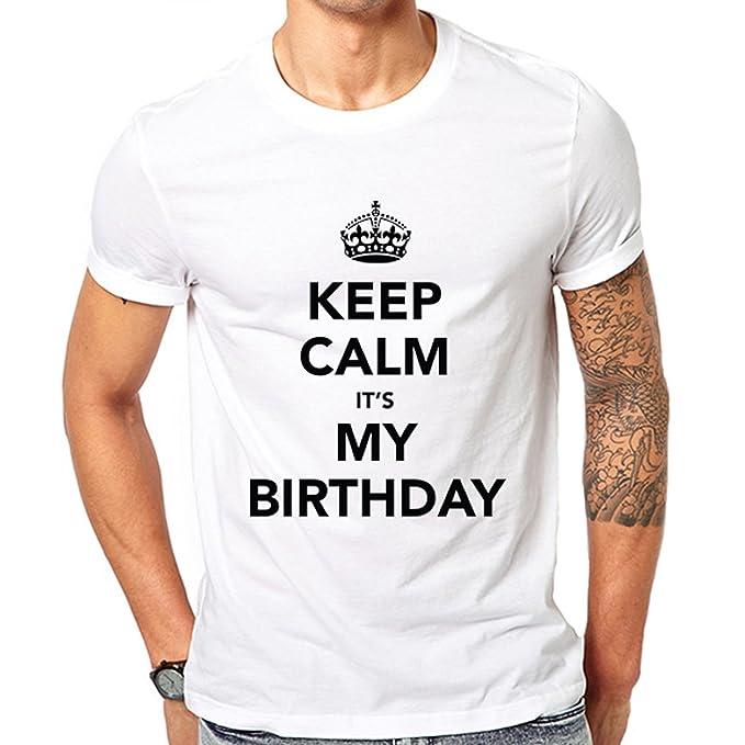 62c5b4760 Keep Calm It  s mi cumpleaños camiseta divertida camiseta Idea de regalo  fiesta de cumpleaños