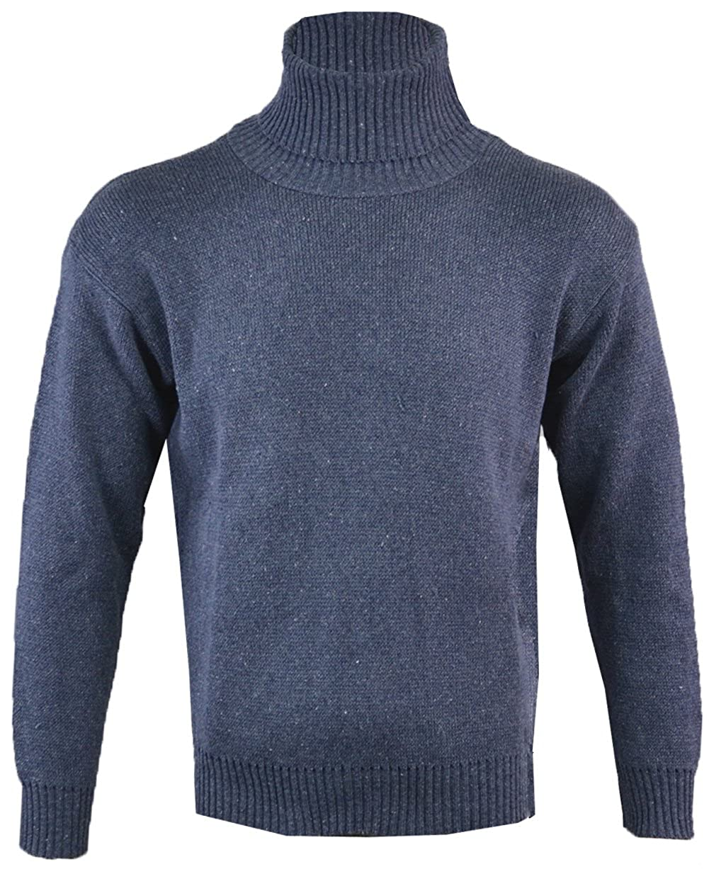 c396ce9752a Clothing Unit Mens Roll Neck Polo Knitted Jumper: Amazon.co.uk: Clothing