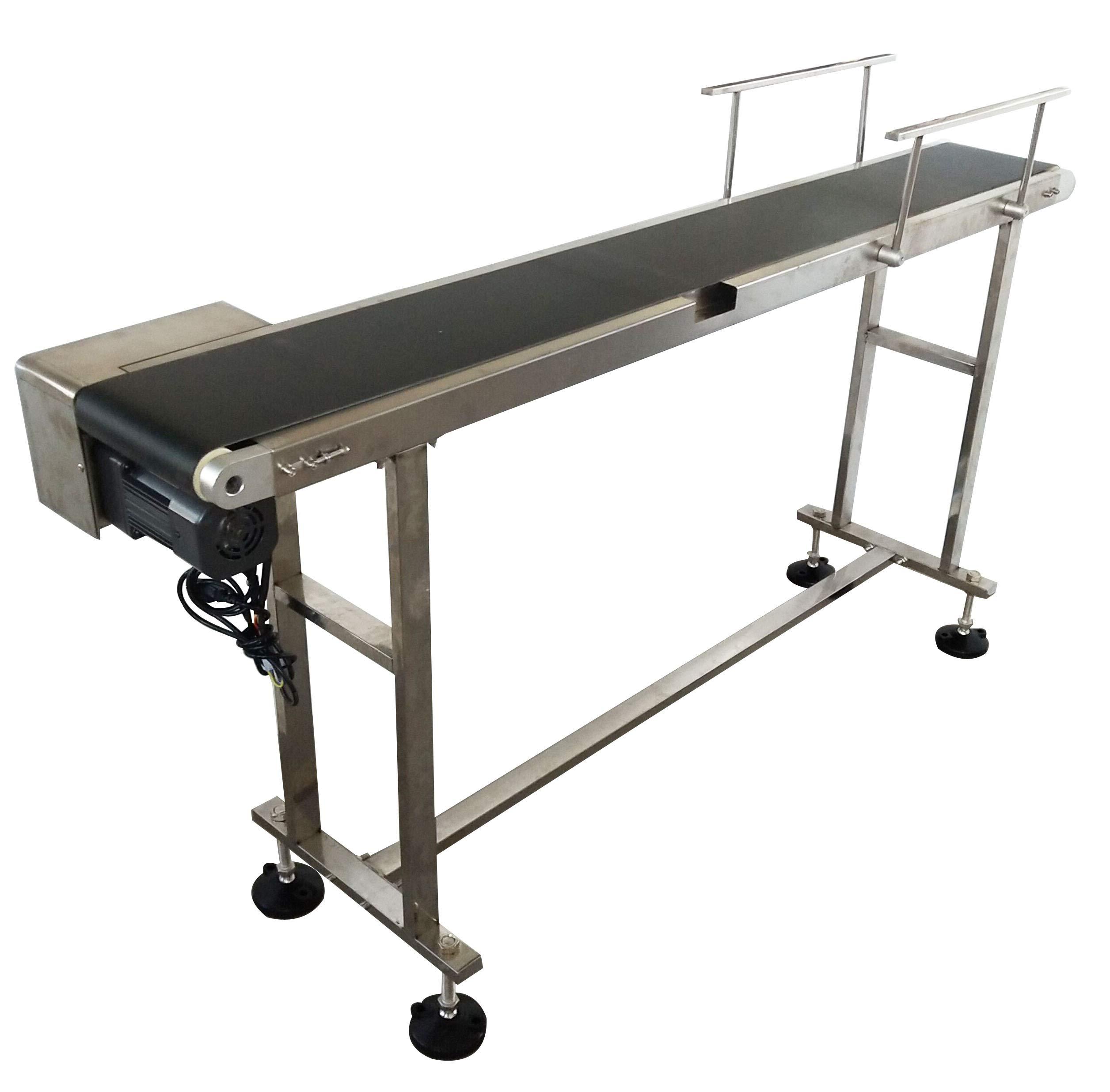TECHTONGDA PVC Flat Conveyor Belt Systems for Industrial Transport Conveyor Length 66inch Belt Width 7.8inch 110V