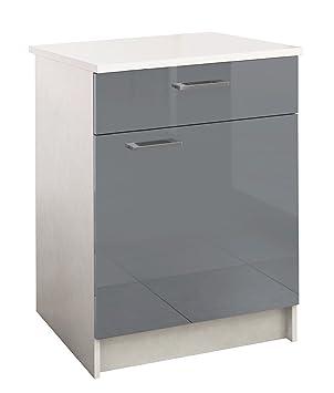 berlioz creations bas meuble de cuisine 1 porte 1 tiroir panneaux de particules