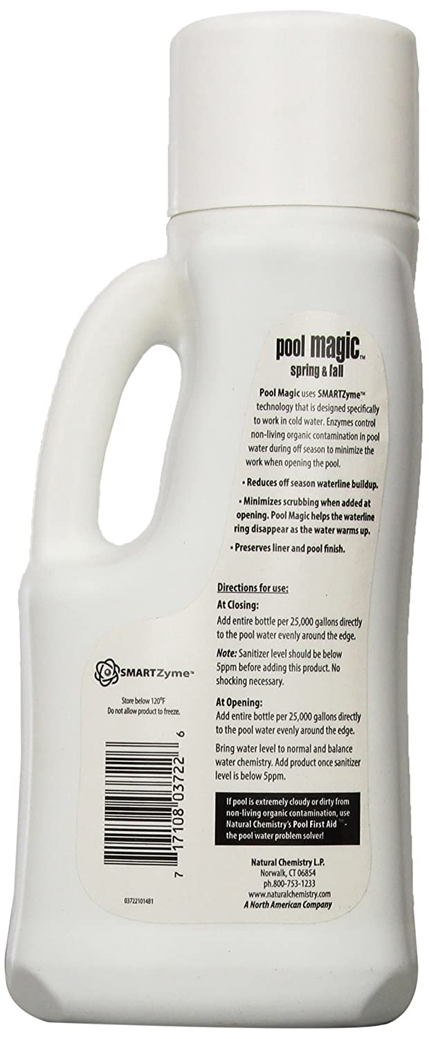 com natural chemistry 3722 pool magic spring and fall  com natural chemistry 3722 pool magic spring and fall discontinued by manufacturer swimming pool and spa supplies patio lawn garden