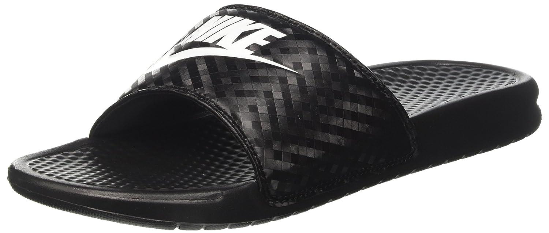 NIKE Men's Women's Benassi Just Do It Walking Shoe B00404UT3K 8 M US|Black/White