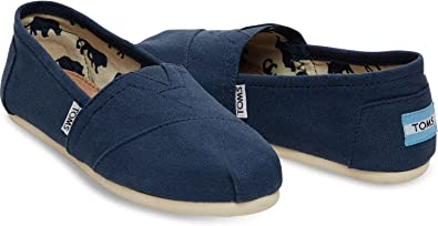 TOMS Women's Canvas Slip-On,Navy Canvas